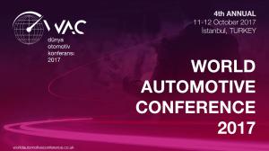 Tudi letos bo v Istanbulu WAC 2017 - world automotive conference